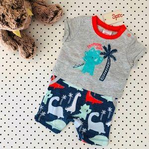 Baby boy size 000 SPROUT summer onesie tshirt grey
